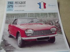 PEUGEOT  204  CABRIOLET    1966 - Voitures
