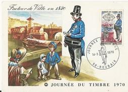 France: 1632 Sur Carte Maxi Pour La Belgique, Oblitération 1 Er Jour Journée Du Timbre - Brieven En Documenten