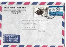 Belgium 1974, België / Belgique Wild Boar (Sus Scrofa) Commemoration 3 Fr, NATO, 25th Anniversary Airmail To Pakistan - Fattoria