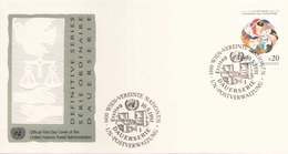 NATIONS UNIES FDC DU 10 MAI 1991 VIENNE SERIE ORDINAIRE - Centre International De Vienne