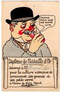 """HUMOUR. LE VIN. HOMME IVRE. CARICATURE. """" J'AURAIS MIEUX AIME Une BONNE CUITE """" - Humour"""