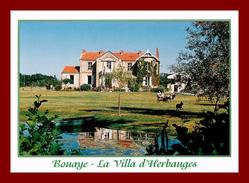 Dept 44 - Le Pays De Retz , Bouaye  , La Villa D'herbauges   (scan Recto Et Verso ) - Bouaye