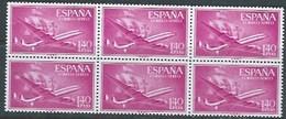 ES1174-A321TAE.Spain Espagne BARCO.AVION SUPER-CONSTELLATION Y NAO SANTA MARIA 1955/56.(Ed.1174**) BL 6 - Nuevos & Fijasellos