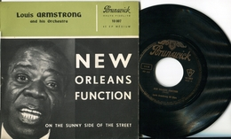 """Louis Armstrong""""45t Vinyle""""New Orleans Function"""" - Jazz"""