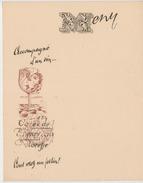 Floreffe Lot 10 Menus Henry - Autres Collections