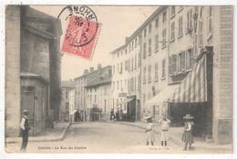 69 - COURS - La Rue Du Centre - Edition Changeant - 1906 - Cours-la-Ville