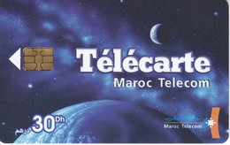 TARJETA DE MARRUECOS DE UN PLANETA Y LA GALAXIA (PLANET-GALAXY) - Astronomùia