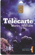 TARJETA DE MARRUECOS DE UN PLANETA Y LA GALAXIA (PLANET-GALAXY) - Astronomy