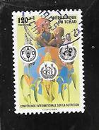 TIMBRE OBLITERE DU TCHAD DE 1992 N° MICHEL 1225 - Chad (1960-...)