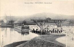 21 POUILLENAY Port Du Canal Péniche Chargeant Les Pierres De La Carrière - Autres Communes