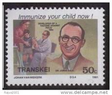 Dr Jonas Salk Polio Vaccine, Health, Disease, Immunization, Nobel Prize, Disabled / Handicapped, MNH, Transkei - Disease