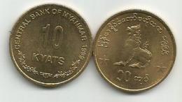 Myanmar  10  Kyats  1999. KM#62 - Birmania