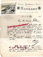 75- PARIS - LETTRE MANUSCRITE SIGNEE HOUDART- VINS SPIRITUEUX- 134 RUE DE BELLEVILLE - 1881 - Francia