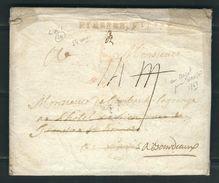 FRANCE 1768 Marque Postale Curçive Pierre Buffiere En Rouge Pour Bordeaux (écrite Au Mazet Prés Limoges) - Postmark Collection (Covers)