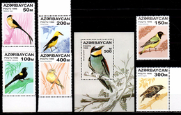 Azerbaijan 1996 Aserbaidschan Mi 313-318 + Block 23(324) Songbirds / Singvögel **/MNH - Zangvogels