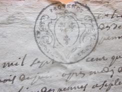 1745 Marseille BdR  Bourilly Les Pennes Septémes Cachet De Provence Vieux Papier Manuscrit Faire Défiler Les Images - Manuscrits