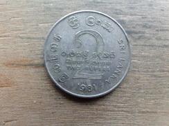 Sri-lanka  2  Rupees  1981  Km 145 - Sri Lanka