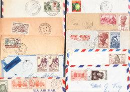 AET Et AOF Lot N 4 De 10  Lettres Des Années 50 MEKANBO, NOUACKCHOT ETC....(voir Desceiption) - Lettres & Documents