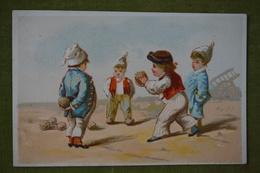 B. FREY - La Parties De Boules - Vleeschouwer, éditeur Avant 1880 - Cromo
