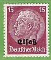 MiNr.8 Xx Deutschland Besetzte Gebiete II.WK Elsass - Besetzungen 1938-45