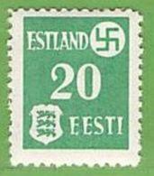 MiNr.2x Xx Deutschland Besetzte Gebiete II.WK Estland - Besetzungen 1938-45