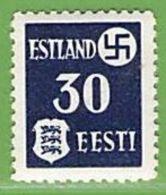 MiNr.3x Xx Deutschland Besetzte Gebiete II.WK Estland - Occupation 1938-45