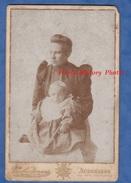 Photo Ancienne Vers 1900 - AUDENARDE - Portrait Jeune Femme Et Son Enfant - Mode Pose - Charles Janssen - Foto