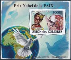NB- Comores 2009 - BL1398, Personnalités, Prix Nobel De La Paix, Wangari Muta Maathai. - Famous People