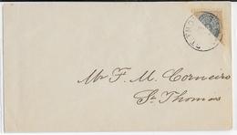 ANTILLES DANOISES - 1873 - YVERT N°7c (1/2 TIMBRE) Sur ENVELOPPE - COTE = 200 EURO - Denmark (West Indies)