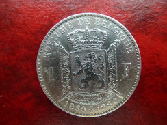 Belgique -Superbe 1 Franc 1880 (50e Anniversaire) - 07. 1 Franco