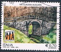 Italie - Pont De La Route Romaine Via Claudia Augusta 3451 (année 2014) Oblit. - 1946-.. République
