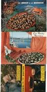 417-1) Série De 3 Cp Sur Les Recettes De Cuisine - Recettes (cuisine)