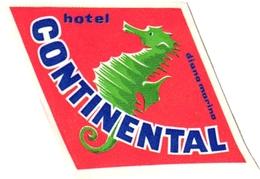 2 Hotel Label Etiquette Sea Horse Hippocampe Zeepaardje Pub  Hotel Continental Hotel Da Rocha Portugal - Etiquettes D'hotels