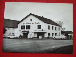 """39 - PETIT NOIR - """" LES RIVES DU DOUBS """" - HOTEL RESTAURANT - POMPES ESSENCE : TOTAL - VIEILLES VOITURES - """" RARE """" - - France"""
