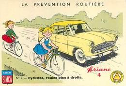 Image (4) La Prévention Routière Ariane Simca Ariane 4 N°7 Cyclistes , Roulez Bien à Droite - Autres