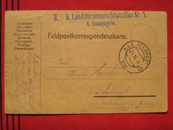 Feldpost: Feldpostamt 186 - Feldpostkarte 1914 - Machine Stamps (ATM)