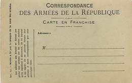 A-17-4403 : CARTE CORRESPONDANCE MILITAIRE EN FRANCHISE POSTALE. - Marcophilie (Lettres)