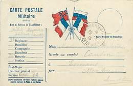 A-17-4411 : CARTE CORRESPONDANCE MILITAIRE EN FRANCHISE POSTALE. DRAPEAUX. TRESOR ET POSTES N° 89 - Poststempel (Briefe)