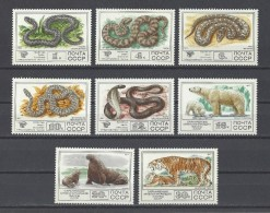 RUSSIE  Y/T  4438/4445  Neuf **  Faune. Serpents Et Mammifères  1977 - 1923-1991 URSS