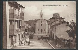 83 GIENS. LA PRESQU' ILE ( VAR)  ANIMEE..CAMION...EGLISE....C2191 - Autres Communes