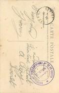 A-17-4425 : CARTE POSTALE  FRANCHISE MILITAIRE.  HOPITAL COMPLEMENTAIRE N° 29 DU CASINO. MENTON. ALPES-MARITIMES - Poststempel (Briefe)