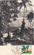 "CPM Wallis Et Futuna . Mata Utu De 1958 Avec Cachet 1er Jour Et Cachet ""EUROPE 1 - VOUS ETES FORMIDABLE"" - Wallis And Futuna"