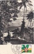 "CPM Wallis Et Futuna . Mata Utu De 1958 Avec Cachet 1er Jour Et Cachet ""EUROPE 1 - VOUS ETES FORMIDABLE"" - Wallis-Et-Futuna"
