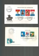 Luxembourg  2  FDC Avec Blocs - FDC