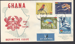 GHANA - Belle Enveloppe Premier Jour - Thema Oiseaux - B/TB - - Ghana (1957-...)