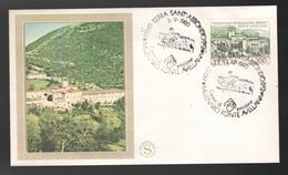 FDC Italia 1980 Filagrano Eremo Fonte Avellana Da 200 Lire - 1946-.. République