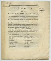 Décret De La Convention Nationale. 29 Sept. 1793 (an II). Prix Maximum Des Denrées Et Marchandises De Première Nécessité - Gesetze & Erlasse
