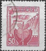 KOREA (SOUTH) 1955 Reconstruction - Rebirth Of Industry - 50h. - Red FU - Korea, South