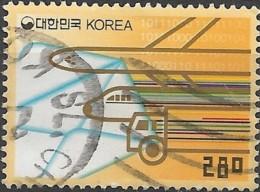 KOREA (SOUTH) 2002 Transport - 280w  Airplane, Locomotive And Lorry FU - Korea (Süd-)