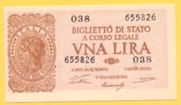 1 LIRA - ITALIA LAUREATA - DECR. 23 - 11 - 1944 - QFDS - Italia – 1 Lira